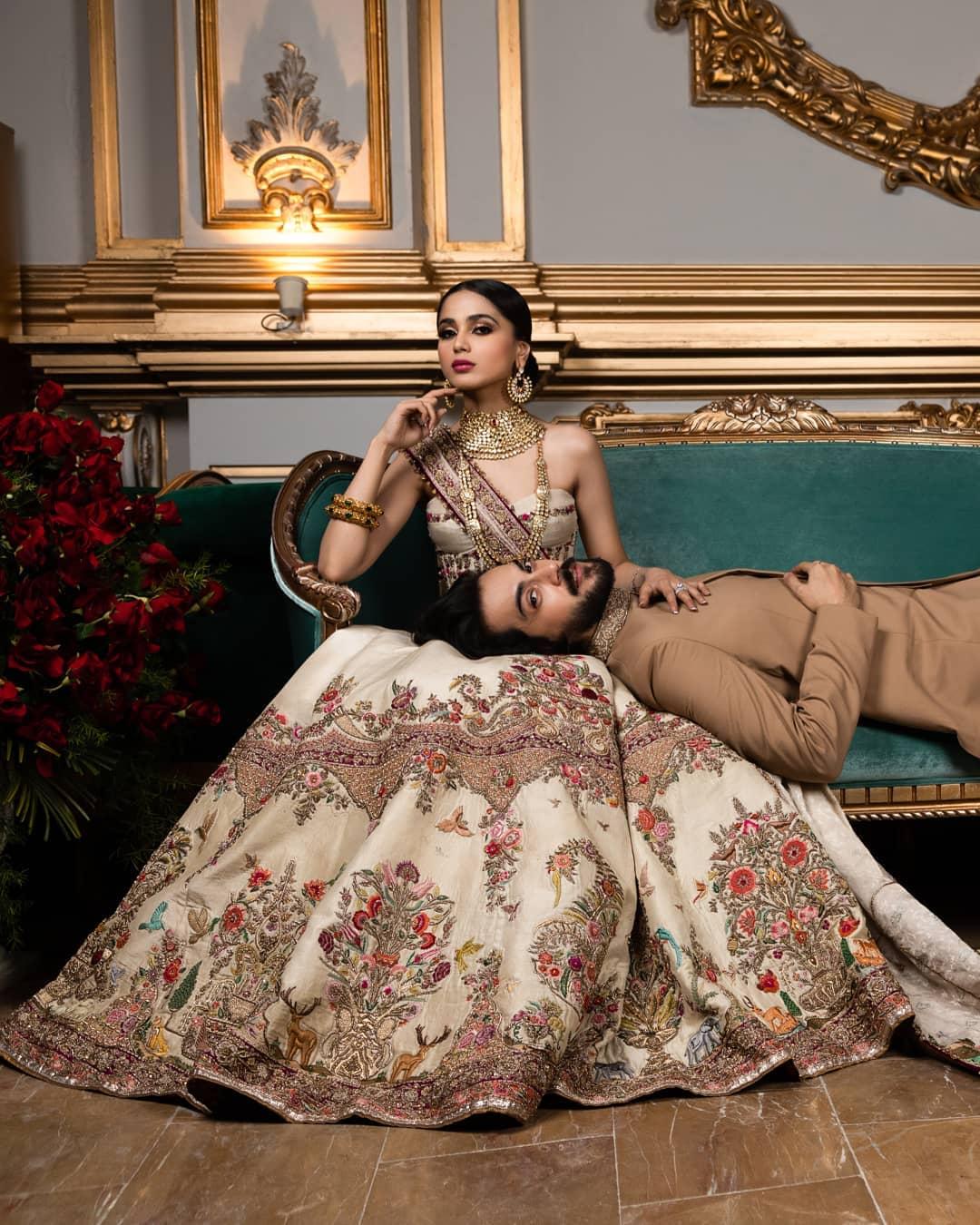 Aima Baig and Shahbaz Shigri Latest Shoot for Fahad Hussayn