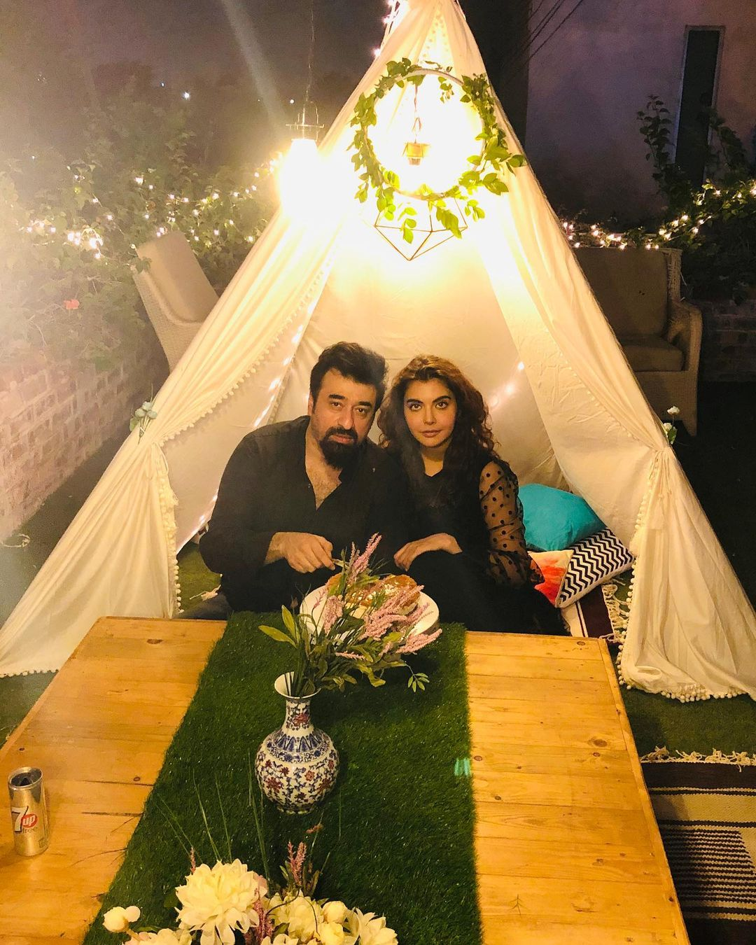Aiman Khan and Muneeb Butt at The Forest Restaurant