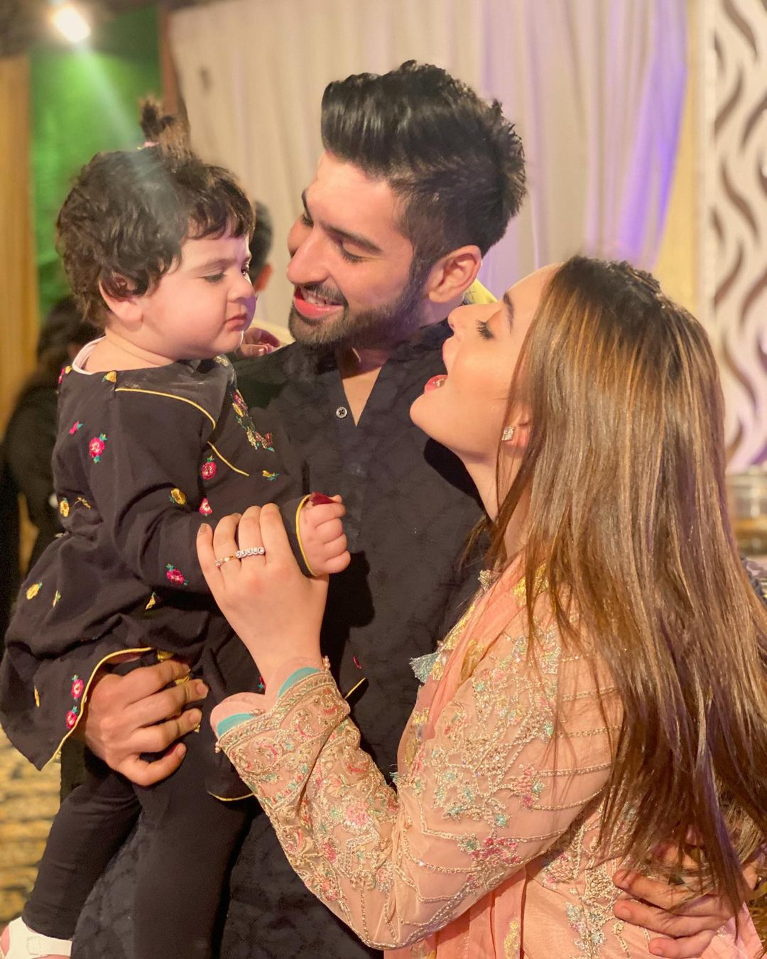 Aiman Khan with her Family at Recent Family Wedding