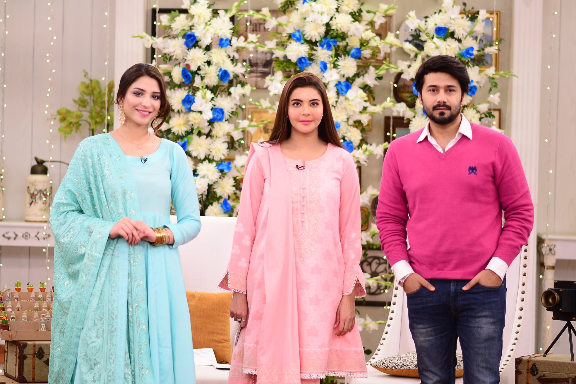 Actor Ali Abbas and Ramsha Khan Pictures from Nida Yasir Morning Show