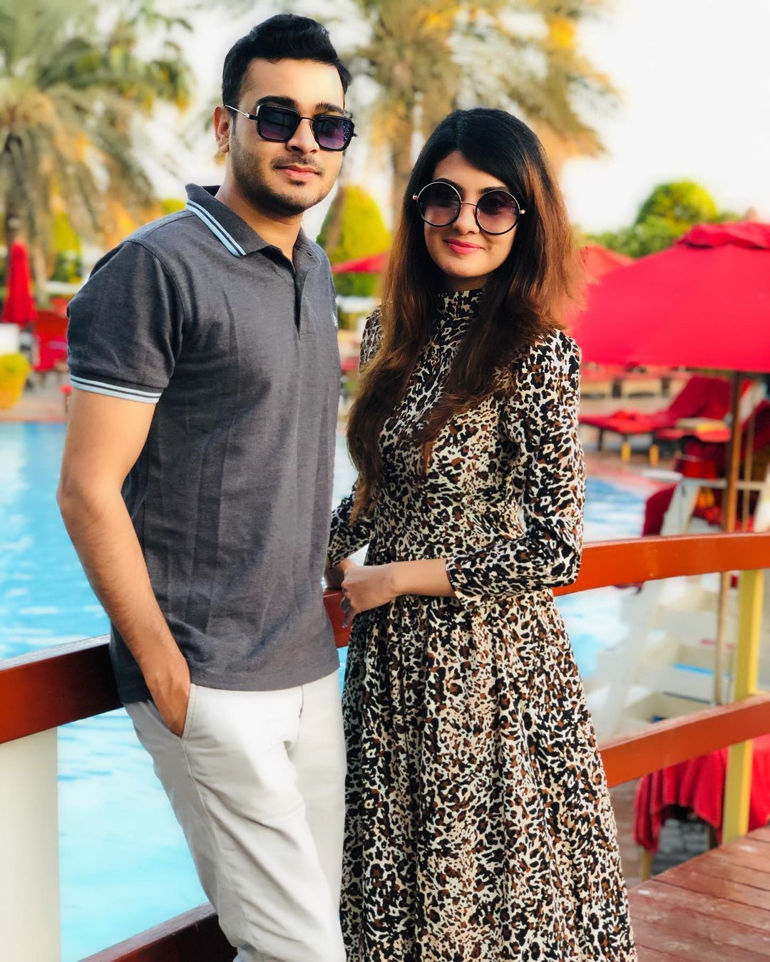 Alizeh Tahir with her Husband in Abu Dhabi - Beautiful Pictures