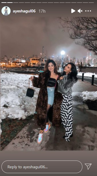 Ayesha Gul And Sonya Hussyn Vacationing In New York