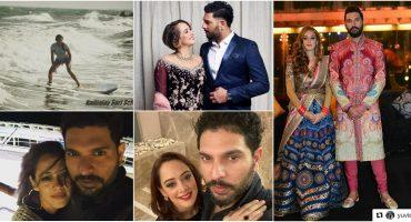 Yuvraj Singh Wife   10 Romantic Pictures