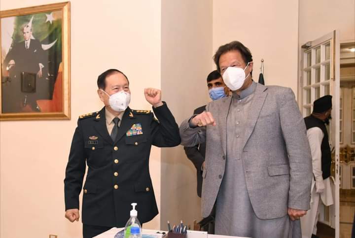 Imran Khan met with Chinese defence minister