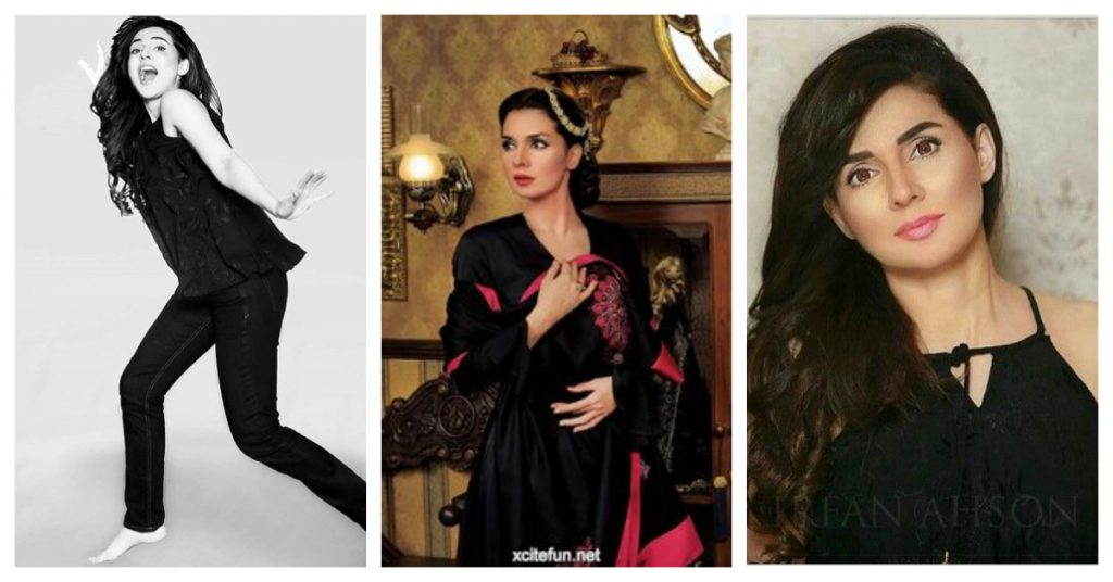 15 Pictures of Mahnoor Baloch in Black Dresses