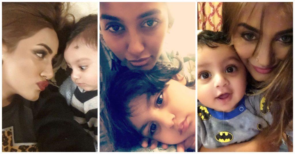 Rare Photos of Mathira With Her Son