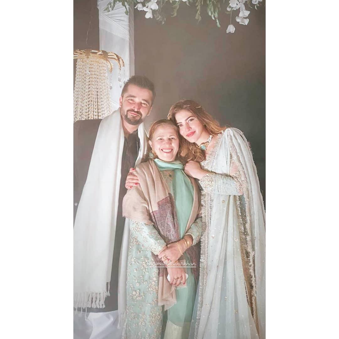 Hamza Ali Abbasi and Naimal Khawar Beautiful Clicks from Recent Wedding