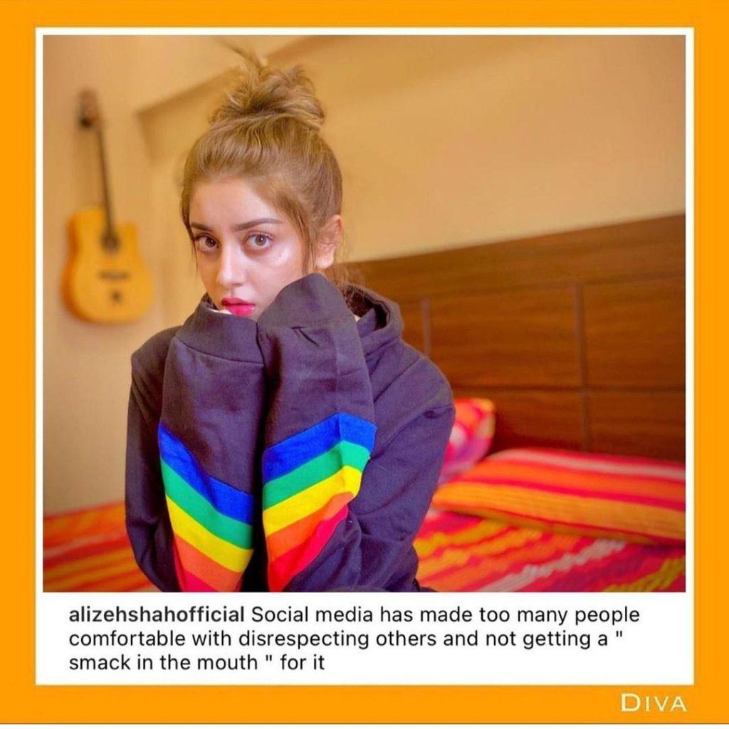 Alizeh Shah Seems Unhappy With Social Media Trolls