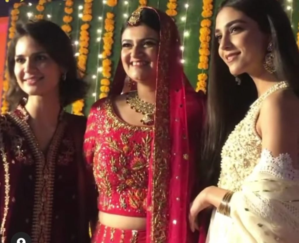 Maya Ali Spotted at Friend's Wedding