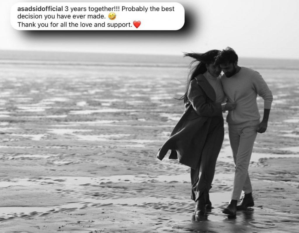 Asad Siddiqui Wishes Third Wedding Anniversary to Zara Noor Abbas