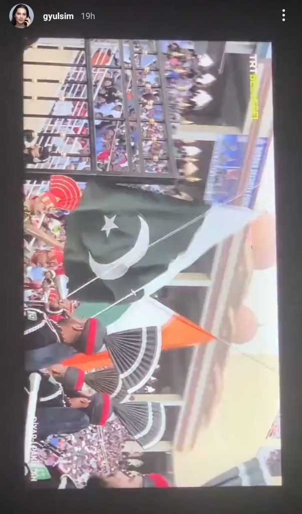 Ertugrul Famed Aslihan Khatun Amazed to See Wagha Border Parade