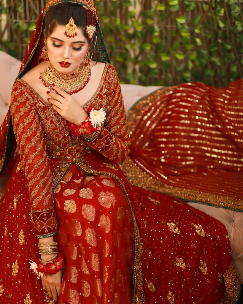 Kanwal Aftab's Latest Pictures In Red Bridal Dress