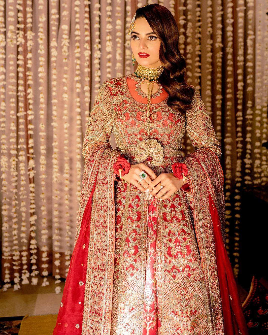 Minal Khan Bridal Photo Shoot for Hussain Rehar