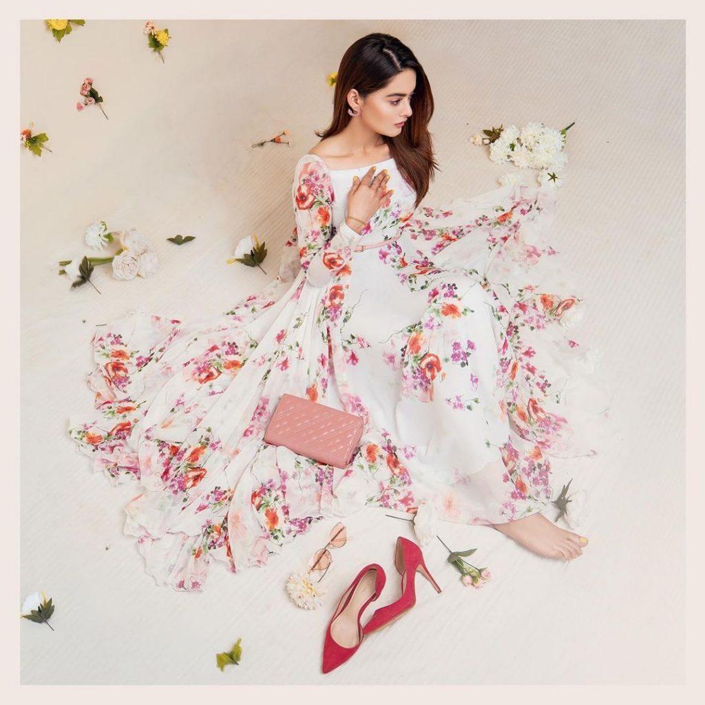 Minal Khan's Latest Photoshoot For Aiman Minal Closet