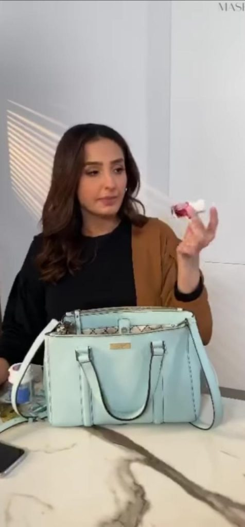 Momal Sheikh Shows What's Inside Her Bag
