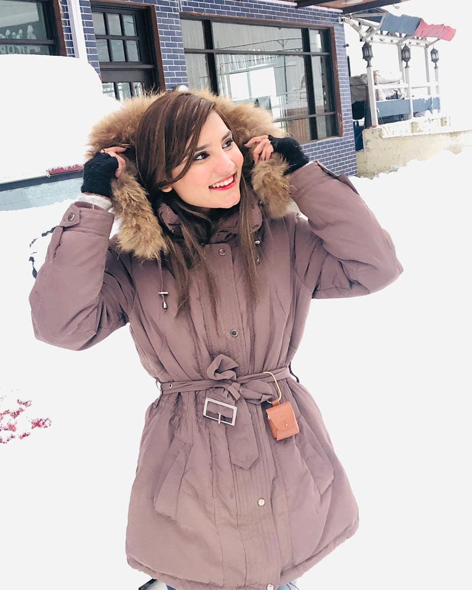 Viral Girl Nimra Ali Enjoying Winter Vacations in Muree