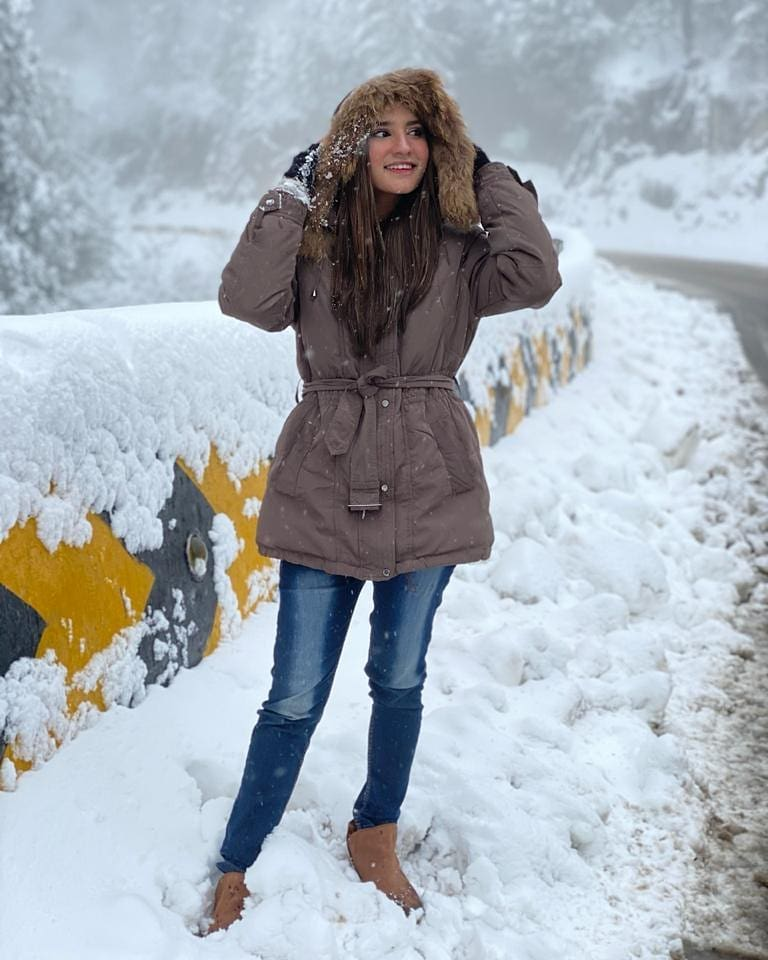 Viral Girl Nimra Ali Enjoying Winter Vacations in Muree