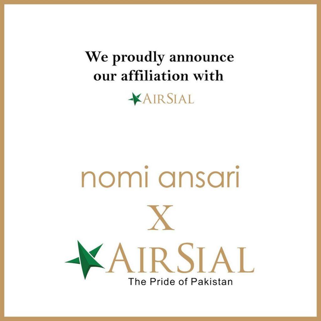 Nomi Ansari Designs Uniforms Of Airsial Crew