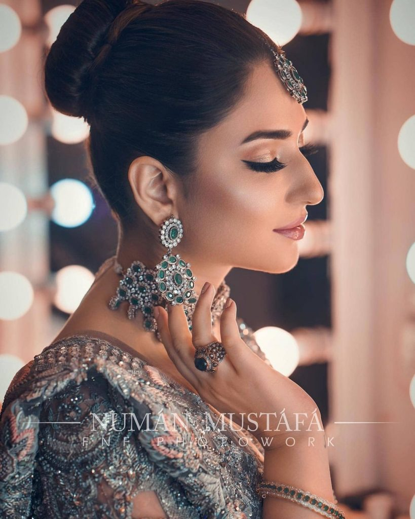 Ramsha Khan Looks Breathtakingly Beautiful In Bridal Dress