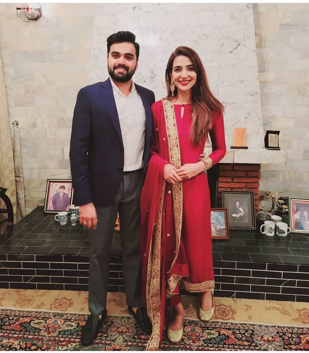 Rubab Hashim with her Husband Shoaib - New Pictures