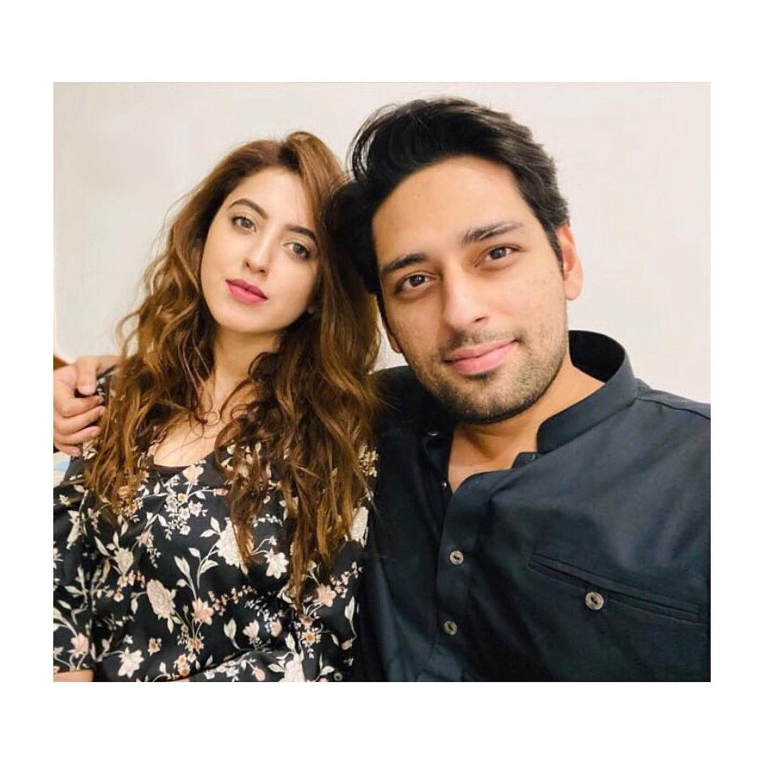 Salman Saeed and his Wife Aleena at a Wedding Event