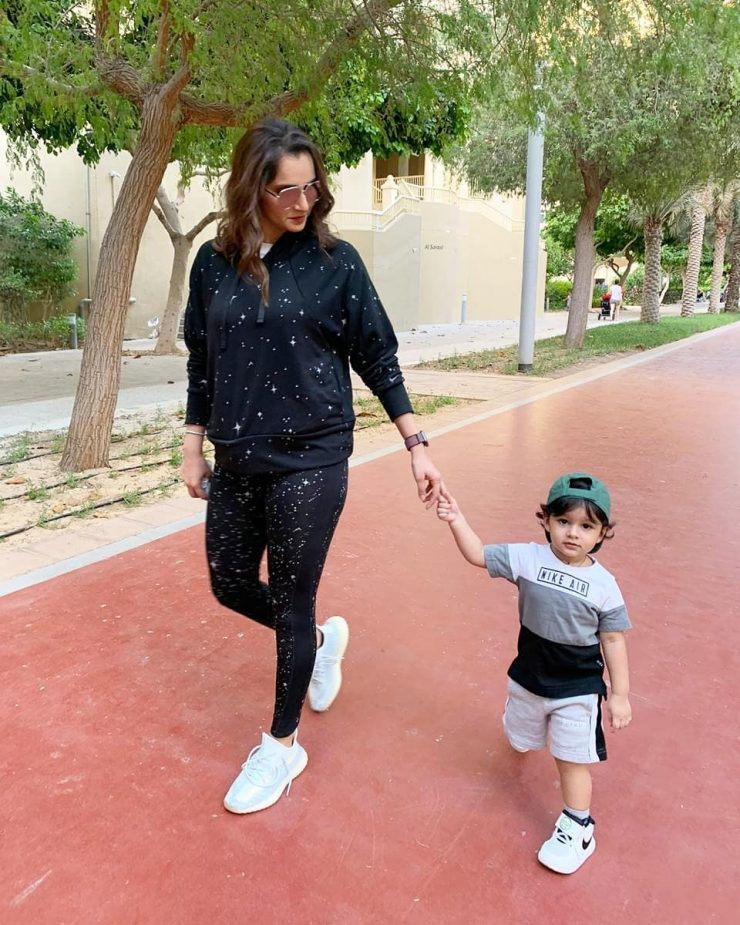 Sania Mirza Starts Teaching Lessons To Son At Young Age
