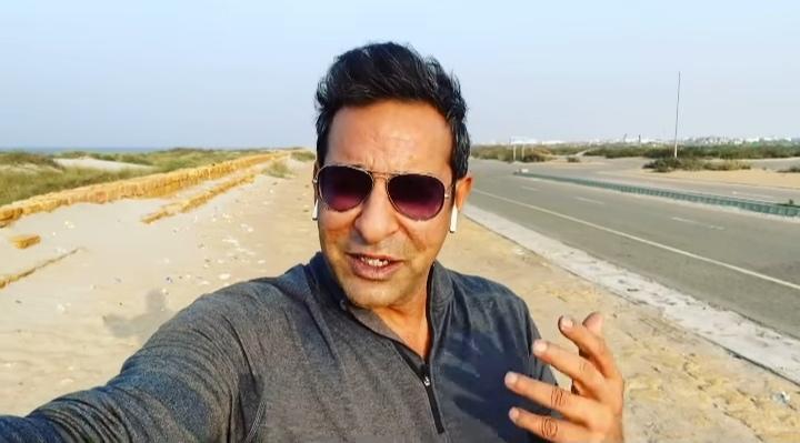 Wasim Akram praised CBC for cleaning beach