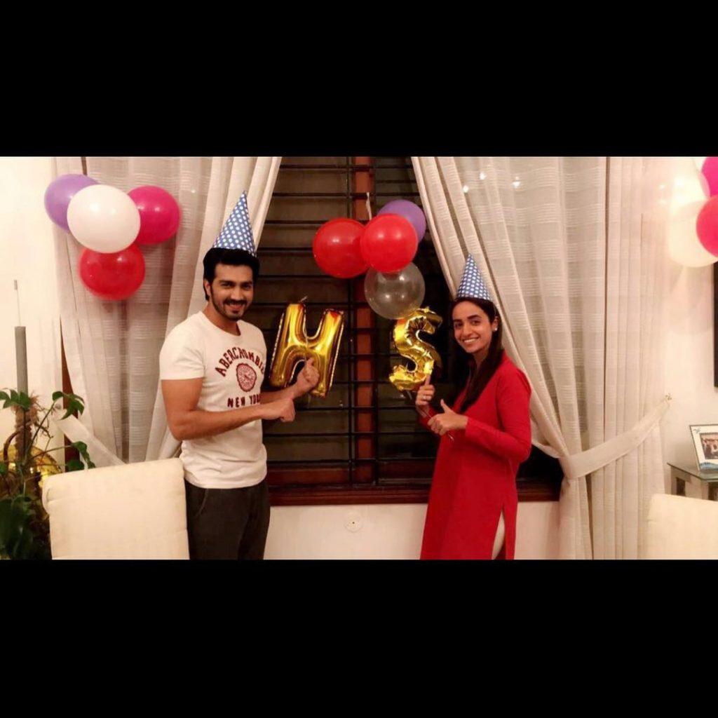 Shahzad Sheikh Celebrating Anniversary With Hina Mir