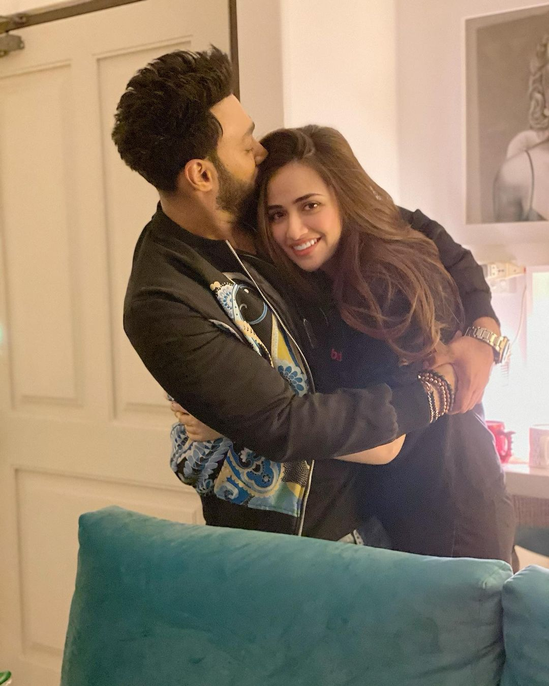 Umair Jaswal Celebrated His Birthday With Wife Sana Javed