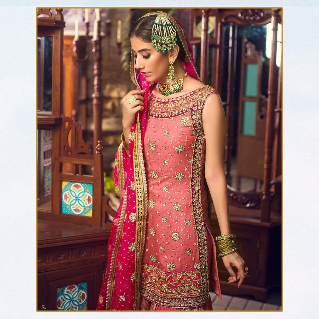 Zainab Chottani's Noor Bridal Collection featuring Syra Yousuf