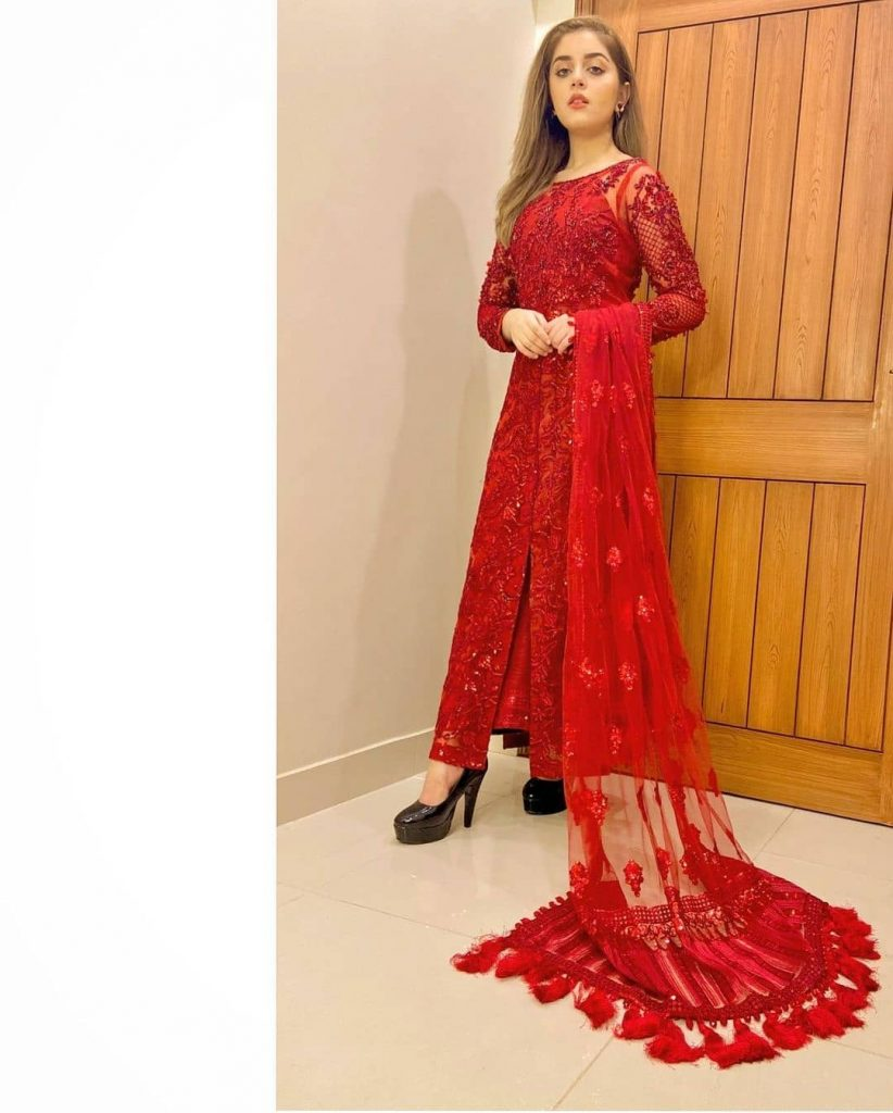 Alizeh Shah Looked Ravishing In Red Outfit
