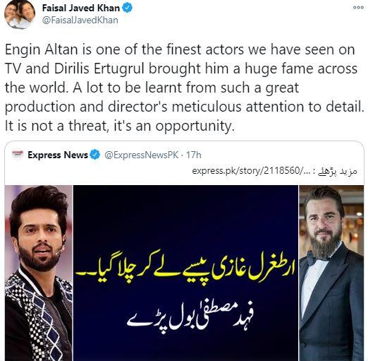 Fahad Mustafa's Statement On Ertugrul's Visit To Pakistan