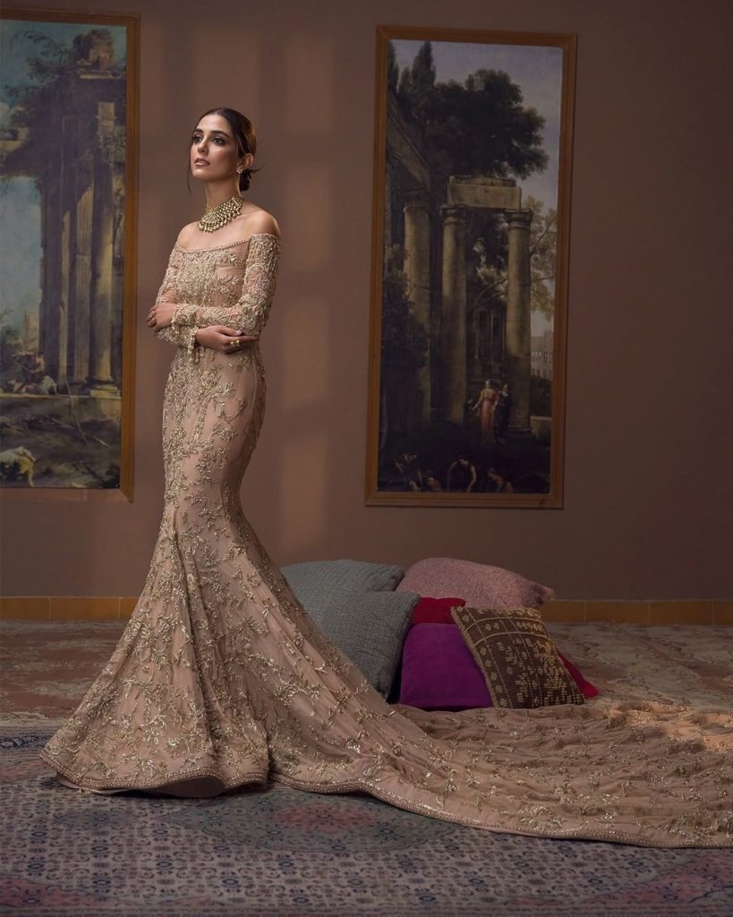 Faiza Saqlain Luxurious Bridal Couture Collection Featuring Maya Ali And Sheheryar Munawar