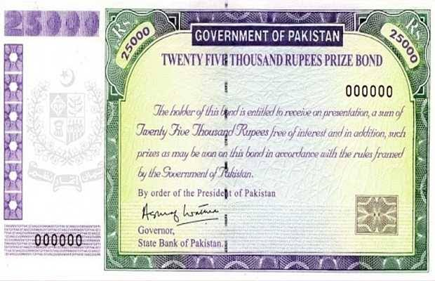 Immediate ban on sale of new prize bonds of Rs 25,000.