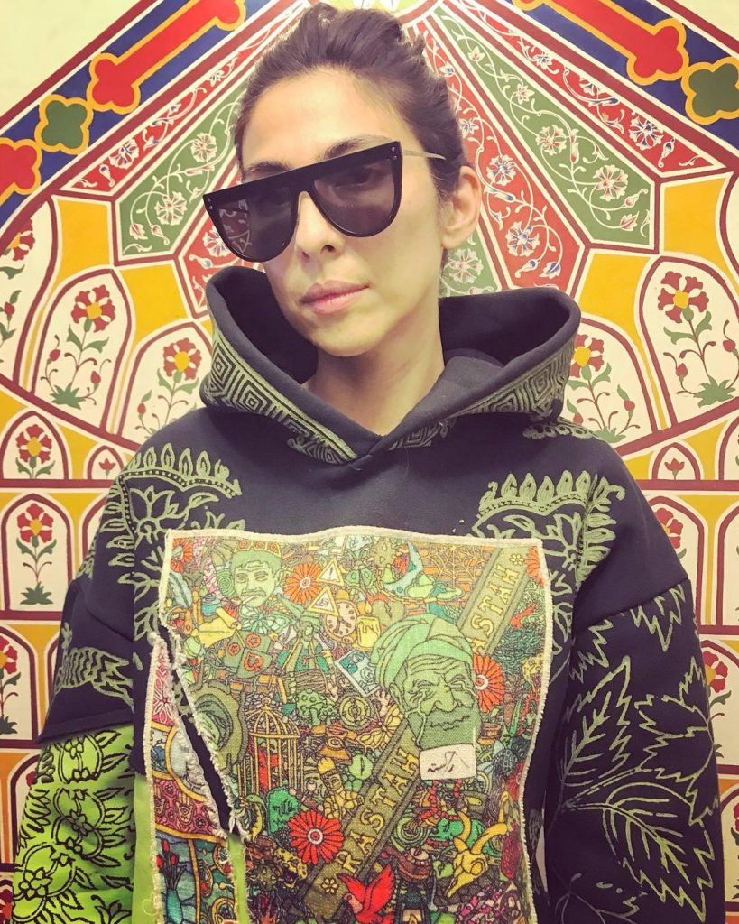 Beautiful Pictures of Meesha Shafi in Color Collage Dresses