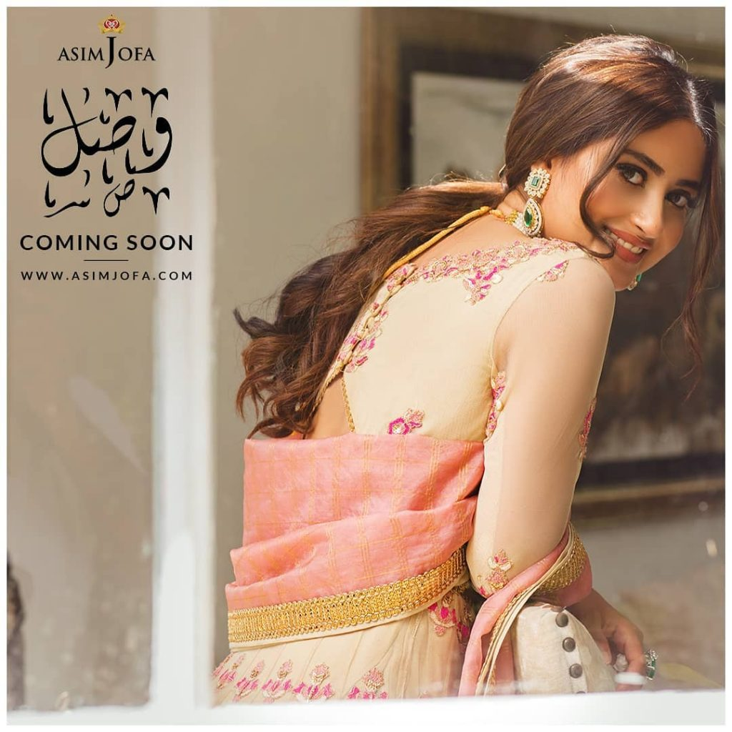 Latest Upcoming Collection Of Asim Jofa Featuring Sajal Ali