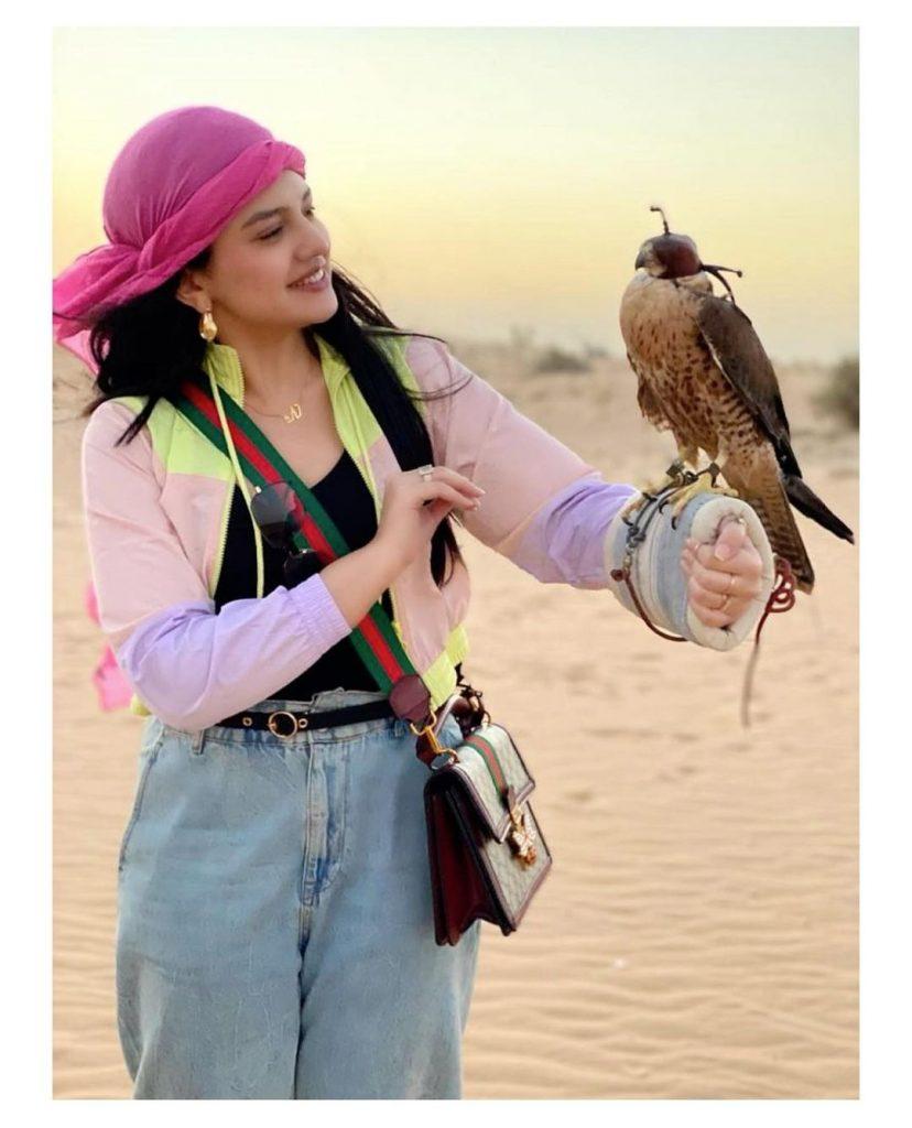 Zara Noor And Asad Siddiqui Exploring Deserts In Dubai