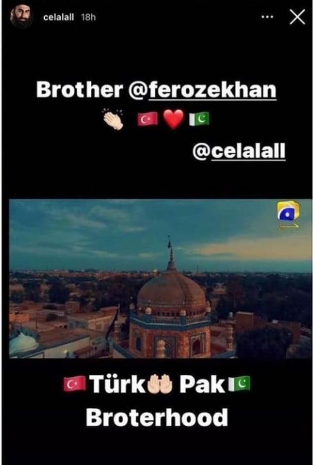 Turkish Actor Celal Al Can't Stop Praising Feroze Khan