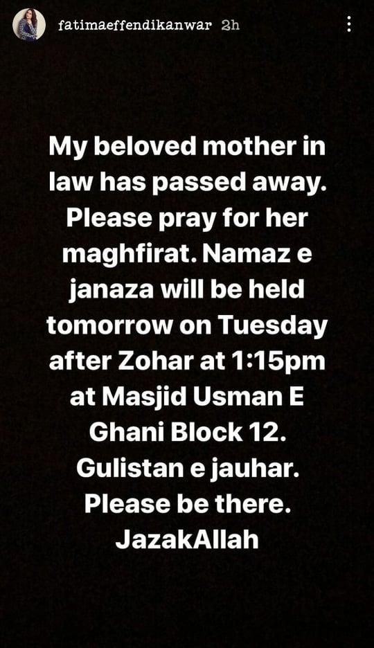 Kanwar Arsalan's Mother Passed Away