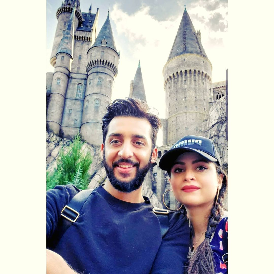 Arij Fatyma with Her Husband and Son in Canada - Latest Clicks