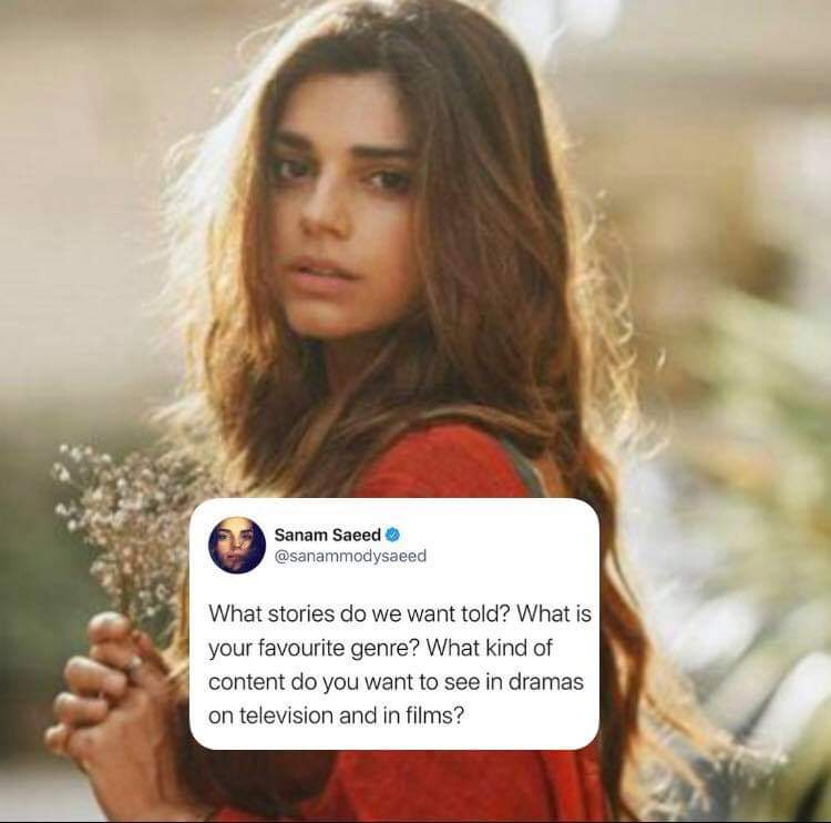 Sanam Saeed Asks a Question From Fans