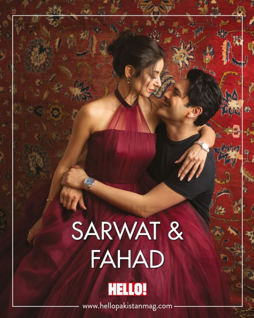 Sarwat Gillani And Fahad Mirza Latest Photoshoot For Hello Magazine