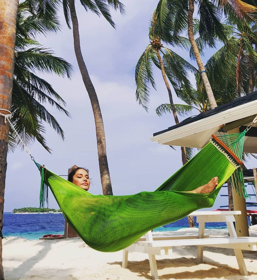 Hajra Khan Spotted Vacationing In Maldives