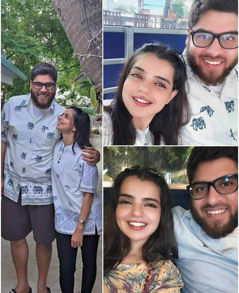 Srha Asghar Pictures With Husband From Maldives