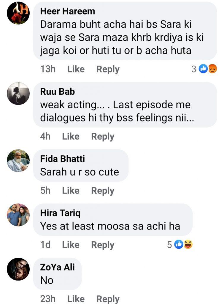 Netizens Criticise Sarah Khan's Performance In Raqs-e-bismil