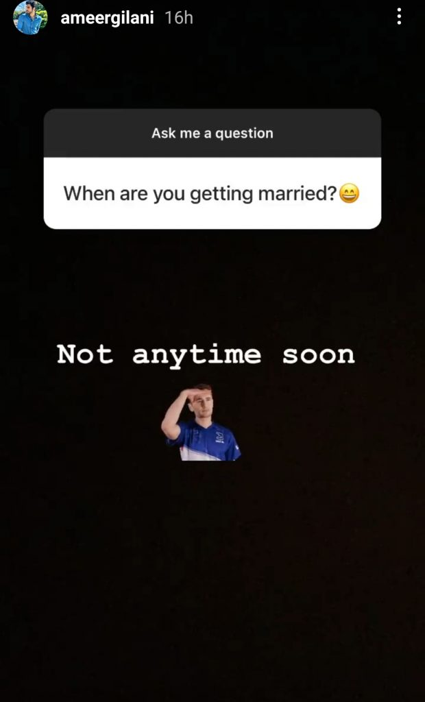 Ameer Gilani Reveals His Relationship Status