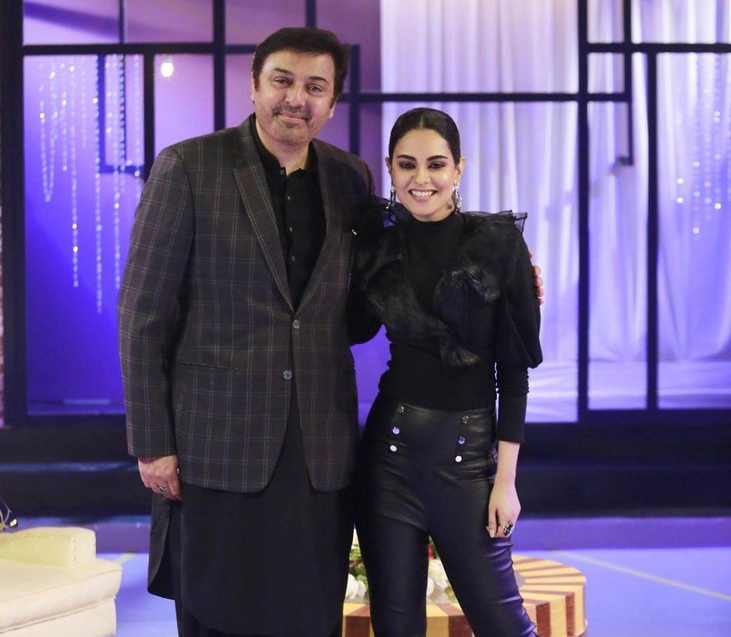 Amar Khan Actor-struck Moment With Nauman Ijaz