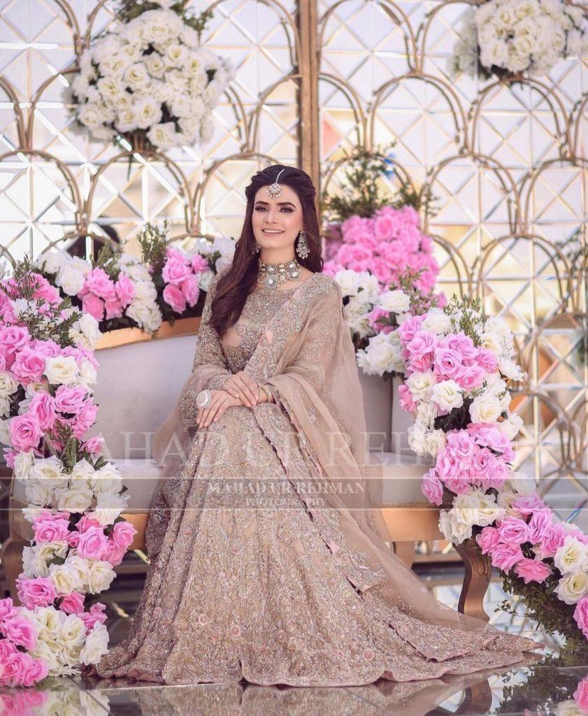Kiran Haq Looks Stunning In Bridal Photoshoot