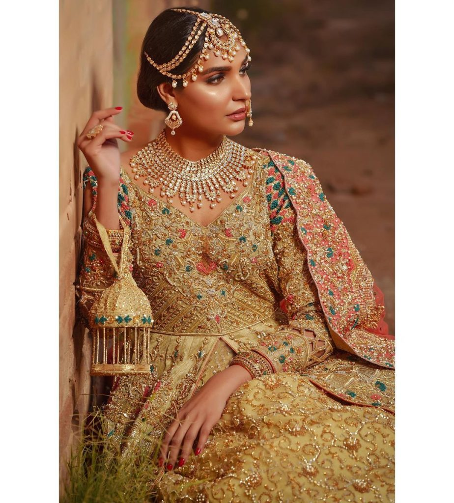 Pictures Of Amna Ilyas In Bridal Dress