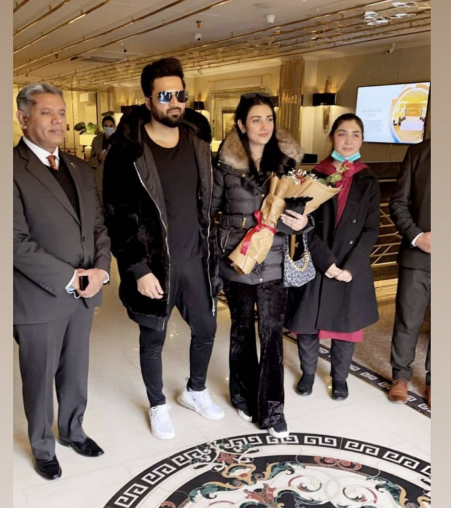 Latest Pictures Of Beautiful Couple Sarah Khan And Falak Shabbir